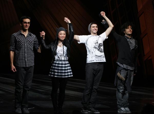 Geek Chorus: Jonathan Schwartz, Alice Lee, Gideon Glick & Matt Devine during the Fina Photo