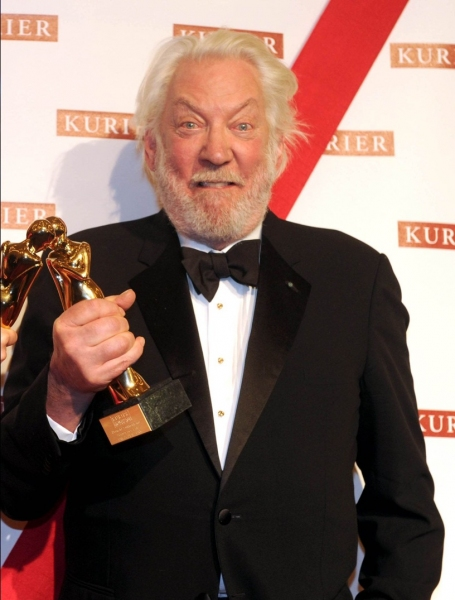 3 at Donald Sutherland Honored at Kurier Romy Gala in Venice