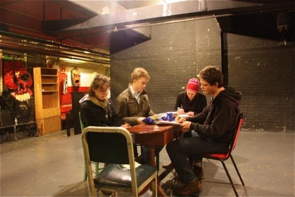 Jamie Law, Dan Abeles. Sarah Lemp, Nick Lawson at Jonny Blitstein's SQUEALER at TNC