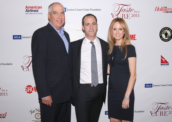 "Gary Newman (Chairman, 20th Century Fox Television), David Nevins (Showtime Networks President of Entertainment) and Dana Walden (Chairman, 20th Century Fox Television) at UCLA's Jonsson Cancer Foundation ""Taste For a Cure"" Fundraiser  Beverly Wilshire Ho"