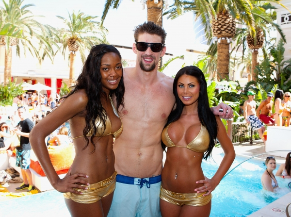 Michael Phelps at Michael Phelps Kicks Off Season at Encore Beach Club