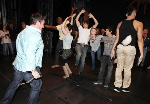 Broadway Debuts: Wilkie Ferguson III, Laura Hall, Julius Anthony Rubio, Danny Stiles, Joey Calveri, Mallauri Esquibel & Derek Ferguson attending the 'Wonderland' Opening Night Gypsy Robe Ceremony Celebrating Recipient Grady McLeod Bowman in New York City.