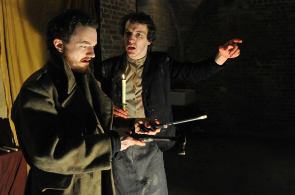 Dominic Allen and James Wilkes at Belt Up's All Male MACBETH Opens in London
