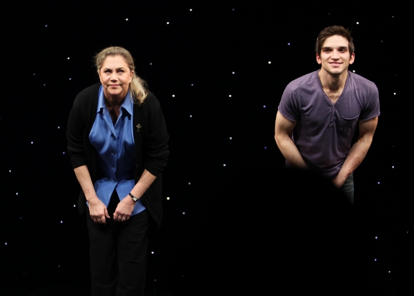 Kathleen Turner & Evan Jonigeit attending the Broadway Opening Night Performance Curtain Call for 'High' in New York City.