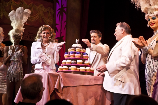 Terry Lavell, Todd Lattimore, Christopher Sieber, Harvey Fierstein at LA CAGE Celebrates 1 Year on Broadway!