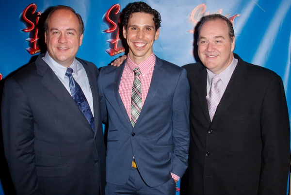 Kevin Ligon, Ernie Pruneda, and Blake Hammond at SISTER ACT Opening Night Party!