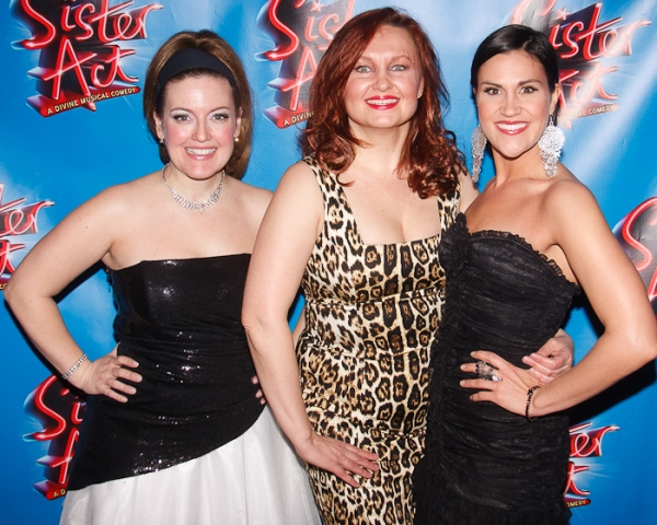 Jennifer Simard, Jennifer Allen, and Alena Watters at SISTER ACT Opening Night Party!