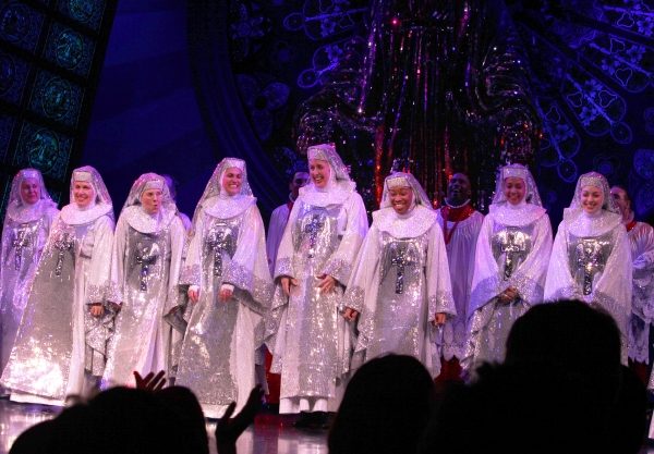 Ensemble Cast during  the Broadway Opening Night Curtain Call for 'Sister Act' in New York City.