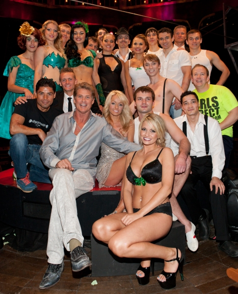 David Hasselhoff and the cast of ABSINTHE