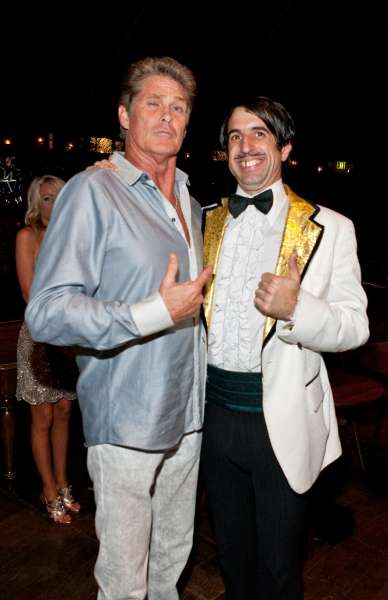 David Hasselhoff and The Gazillionaire at Hasselhoff Visits ABSINTHE at Caesars Palace