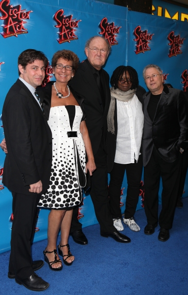 Glenn Slater, Joop Van Den Ende & wife, Whoopi Goldberg & Alan Menken