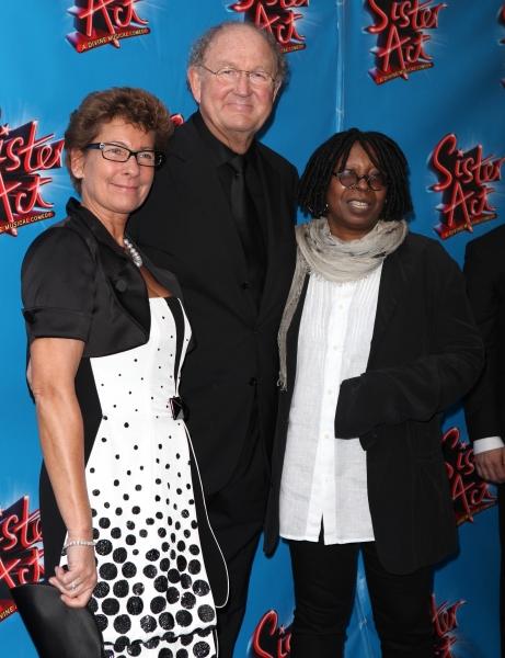 Joop Van Den Ende & wife & Whoopi Goldberg  at SISTER ACT Opening Night Red Carpet