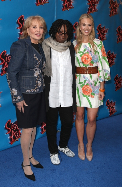 Barbara Walters, Whoopi Goldberg & Elisabeth Hasselbeck attending the Broadway Opening Night Performance of 'Sister Act' at the Broadway Theatre n New York City.
