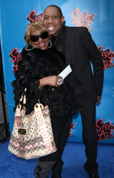 Irene Gandy & Freddie Jackson attending the Broadway Opening Night Performance of 'Sister Act' at the Broadway Theatre n New York City.