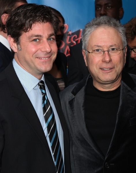 Glenn Slater & Alan Menken attending the Broadway Opening Night Performance of 'Sister Act' at the Broadway Theatre n New York City.