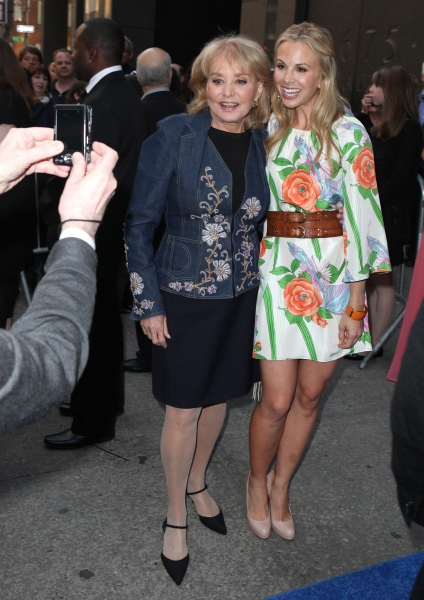 Barbara Walters & Elisabeth Hasselbeck attending the Broadway Opening Night Performance of 'Sister Act' at the Broadway Theatre n New York City.