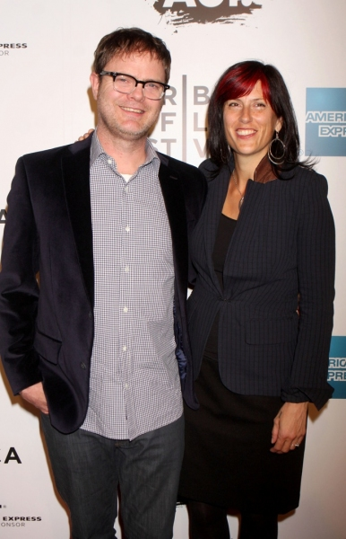 Rainn Wilson and wife Holiday Reinhorn at Martin Scorsese's 'The Union' Opens at Tribeca Film Fest