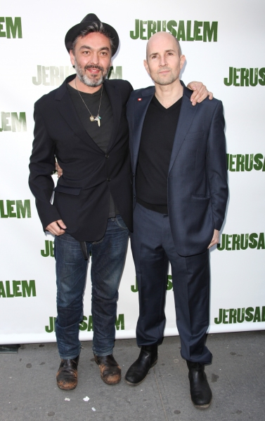 Jez Butterworth and Ian Rickson  attending the Broadway Opening Night Performance of 'Jerusalem' at the Music Box Theatre in New York City.