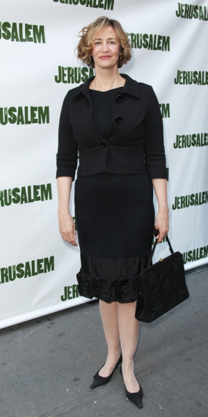 Janet McTeer attending the Broadway Opening Night Performance of 'Jerusalem' at the Music Box Theatre in New York City.