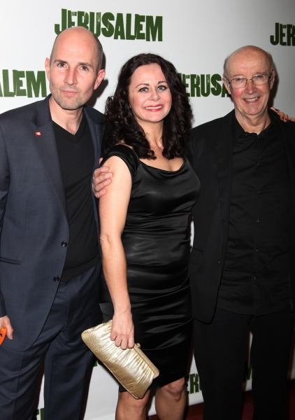 Ian Rickson & Geraldine Hughes & Alan David attending the Broadway Opening Night After Party for 'Jerusalem' in New York City.