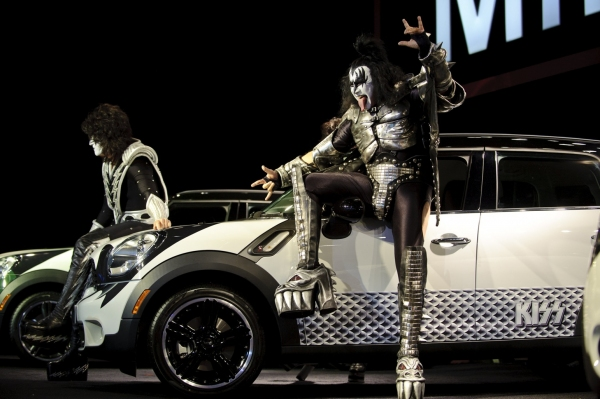 Photo Flash: Kiss Performs at the Auto Show Press Conference