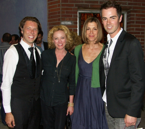 Daniel Henning, Virginia Madsen, Wendie Malick, Michael Matthews at THE TEMPERAMENTALS Opens at The Blank Theatre Company!