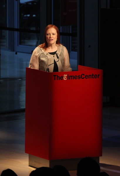 Carol Day introduces Times Talks- Melena Ryzik has a Conversation with Mark Ruffalo at Times Center in New York City.  at TimesTalks with Mark Ruffalo