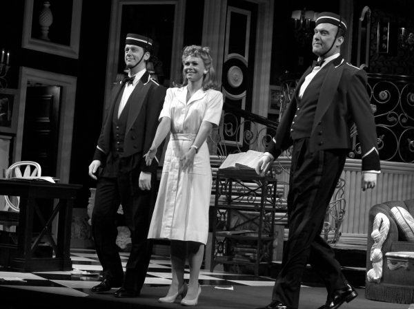 Fred Arsenault, Liv Rooth & Bill Christ during the Broadway Opening Night Performance Curtain Call for 'Born Yesterday' in New York City.