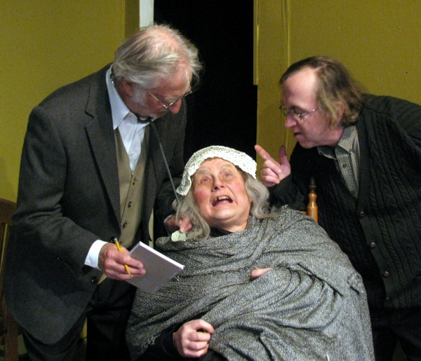 Giz Coughlin and cast  at The Cripple of Inishman At Heritage Center