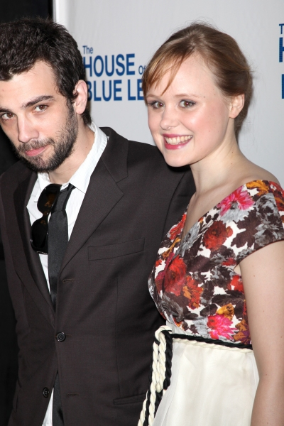Jay Baruchel and Alison Pill  attending the Broadway Opening Night After Party for The House Of Blue Leaves' in New York City.