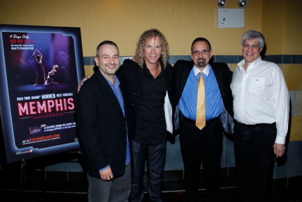 Joe DiPietro, musician and composer David Bryan, vice-president of NCM Fathom, Dan Diamond and executive producer Bruce Brandwen