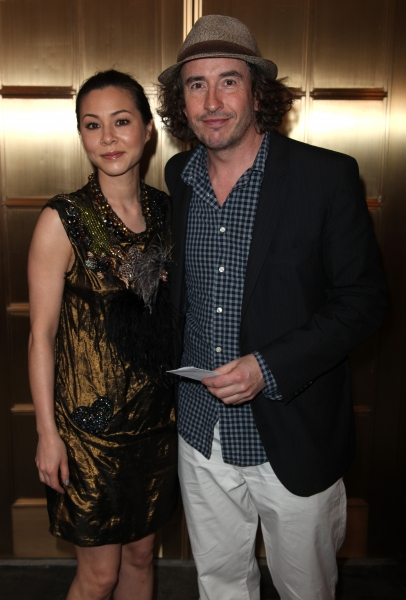 China Chow & Steve Coogan attending the Broadway Opening Night Performance of 'The House Of Blue Leaves' at the Walter Kerr Theatre in New York City.