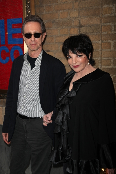 Liza Minnelli & friend Christian attending the Broadway Opening Night Performance of 'The House Of Blue Leaves' at the Walter Kerr Theatre in New York City.