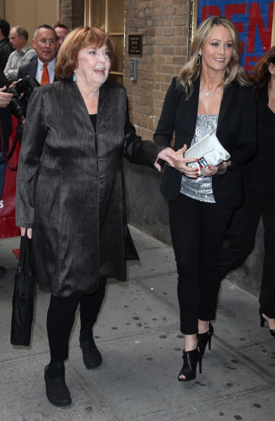 Anne Meara & Christine Taylor attending the Broadway Opening Night Performance of 'The House Of Blue Leaves' at the Walter Kerr Theatre in New York City.