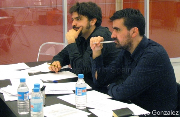 Julio Awad e Ignacio Garcia at Castings de Don Juan Tenorio El Musical