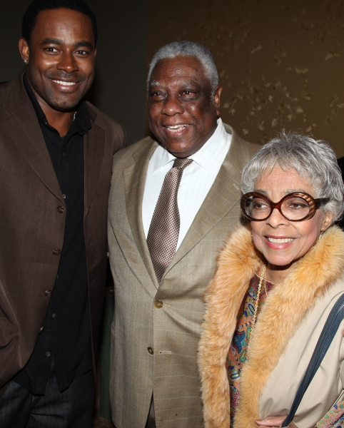 Lamman Rucker, Woodie King Jr. & Ruby Dee attending the New Federal Theatre Press Con Photo
