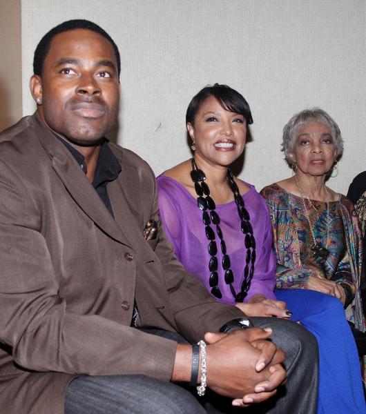 Lamman Rucker, Lynn Whitfield, Ruby Dee attending the New Federal Theatre Press Confe Photo
