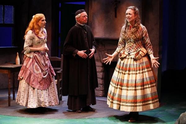 Katie Fabel (Arte O'Neal), Geddeth Smith (Father Dolan) and Allison Jean White