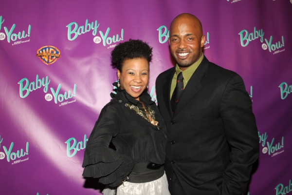 Ashanti J' Aria and Kris Coleman at BABY IT'S YOU Opening Night Party