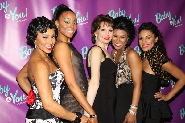 Kyra Da Costa, Erica Ash, Beth Leavel, Christina Sajous and Crystal Starr at BABY IT'S YOU Opening Night Party