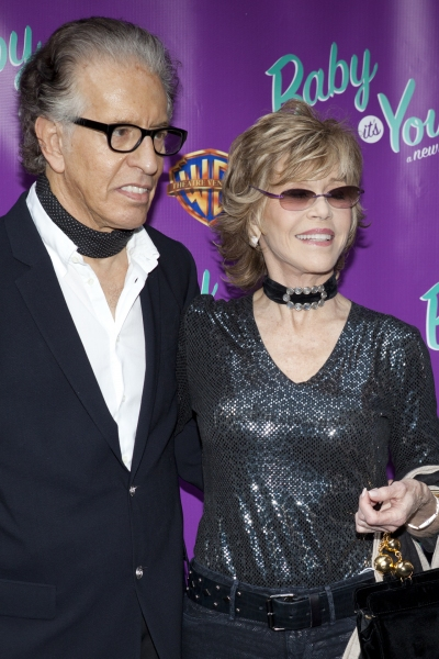 Richard Perry and Jane Fonda at BABY IT'S YOU Opening Night Arrivals
