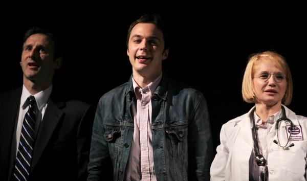 Richard Topal & Jim Parsons & Ellen Barkin attending the Broadway Opening Night Perfo Photo
