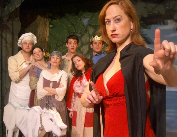 Jordan B. Stocksdale as The Baker, Taylor Whidden as The Baker's Wife, Susan Thornton as Jack's Mother, Thomas Evich as Jack, Alexandra Guyker as Little Red, Chase Maggiano as Prince Charming, and Sarah Melinda as The Witch