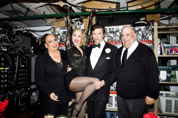 Roz Ryan, Christie Brinkley, Brent Barrett & Raymond Bokhour at CHICAGO Celebrates 6000 Performances on Broadway