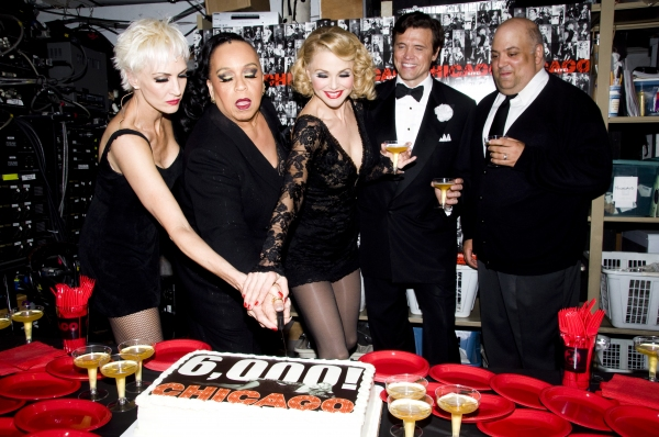 Amra-Faye Wright, Roz Ryan, Christie Brinkley, Brent Barrett & Raymond Bokhour at CHICAGO Celebrates 6000 Performances on Broadway