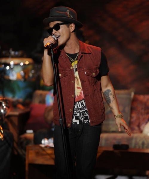 Bruno Mars  at Casey Abrams Leaves AMERICAN IDOL