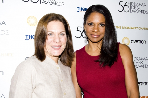 Isa Goldberg & Audra McDonald at Drama Desk Award Nomination Announcements!