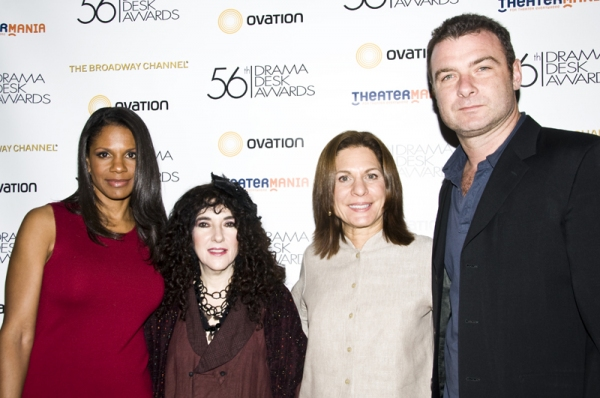 Audra McDonald, Barbara Siegel, Isa Goldberg & Liev Schreiber at Drama Desk Award Nomination Announcements!