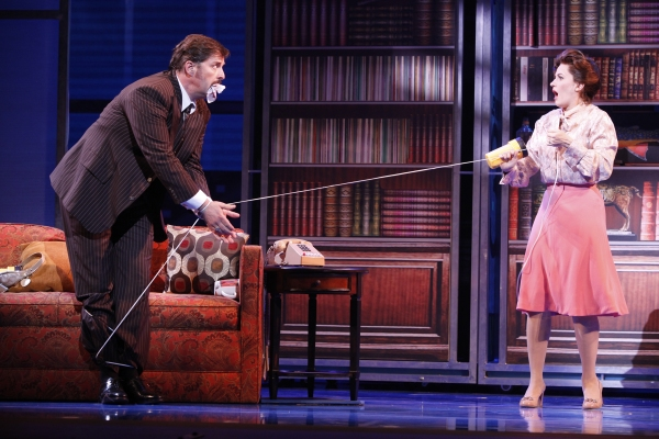 Joseph Mahowald as Mr. Hart and Mamie Parris as Judy at BWW Reviews:  9 TO 5 National Tour in Denver