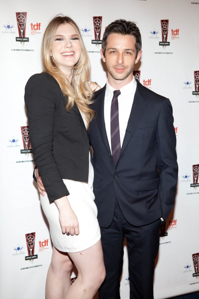 Lily Rabe and Jeremy Strong at 26th Annual Lucille Lortel Awards: Arrivals